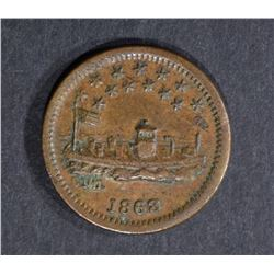 1863 USS MONITOR CIVIL WAR TOKEN