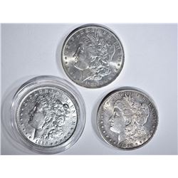 1883-O, 86 & 90-S CH BU MORGAN DOLLARS
