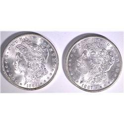 1884 & 1887 MORGAN DOLLARS
