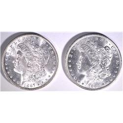 1884-O & 1887 MORGAN DOLLARS