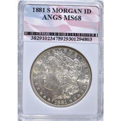 1881-S MORGAN DOLLAR, ANGS SUPERB GEM BU++