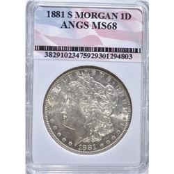 1881-S MORGAN DOLLAR, ANGS SUPERB GEM BU++