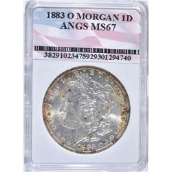 1883-O MORGAN DOLLAR, ANGS SUPERB GEM BU+