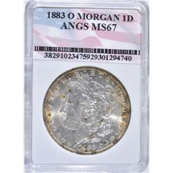 1883-O MORGAN DOLLAR, ANGS SUPERB GEM BU+