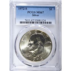 1972-S SILVER EISENHOWER DOLLAR PCGS MS-67