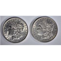 1879 & 1900 MORGAN DOLLARS CH AU