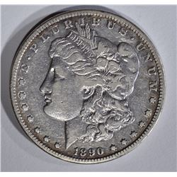 1890-CC MORGAN DOLLAR VF