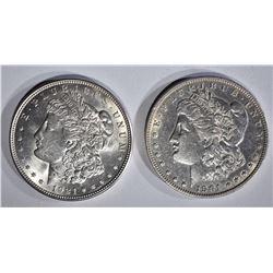 1901-O AU & 1921 CH BU MORGAN DOLLARS