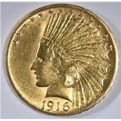 1916-S $10 GOLD INDIAN HEAD  CH BU