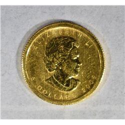 2009 1/10oz .9999 GOLD CANADA MAPLE LEAF