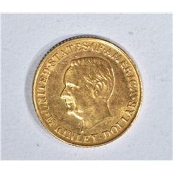 1917 McKINLEY $1.00 GOLD COMMEMORATIVE