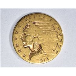 1913 $2.50 GOLD INDIAN  VG