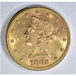 1882 $10.00 GOLD LIBERTY CH BU+