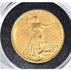 1924 $20.00 SAINT GAUDENS GOLD, BU