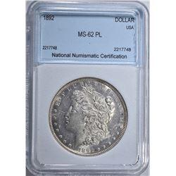 1892 MORGAN DOLLAR NNC CH BU PL