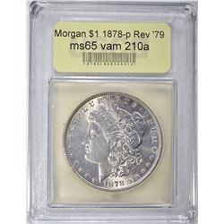 1878 REV '79 MORGAN DOLLAR