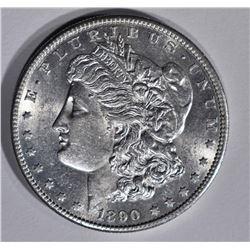 1890-S MORGAN DOLLAR  CH BU+