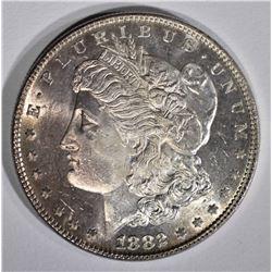 1882 MORGAN DOLLAR  CH BU DMPL