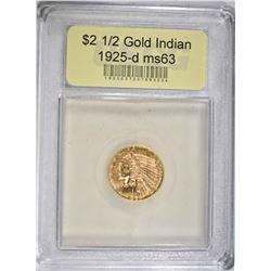 1925-D $2 1/2 GOLD INDIAN HEAD