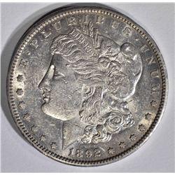 1892-CC MORGAN DOLLAR  AU/BU