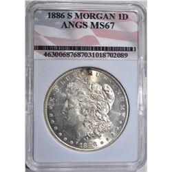 1886-S MORGAN DOLLAR ANGS SUPERB GEM
