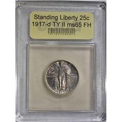 1917-D TYPE 2 STANDING LIBERTY QUARTER