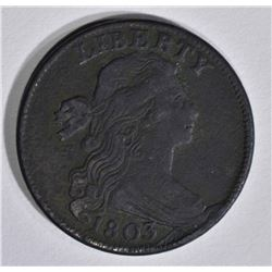 1803 DRAPED BUST LARGE CENT  XF