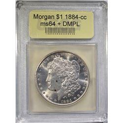 1884-CC MORGAN DOLLAR  USCG CH BU DMPL