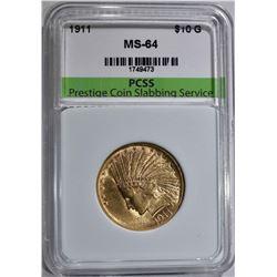 1911 $10.00 GOLD INDIAN HEAD  PCSS CH BU