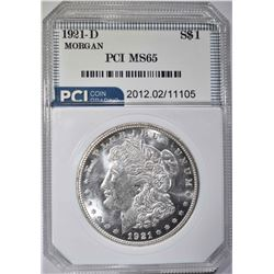 1921-D MORGAN DOLLAR  PCI GEM BU