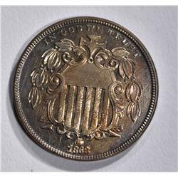 1868 SHIELD NICKEL  CH BU PROOF