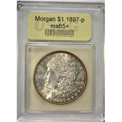 1987 MORGAN DOLLAR  USCG GEM BU+