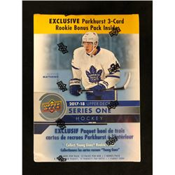 2017-18 UPPER DECK SERIES ONE HOCKEY BOX (12 PACKS)