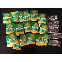 MIXED SPORTS TRADING CARDS LOT (BASEBALL WAX PACKS...)