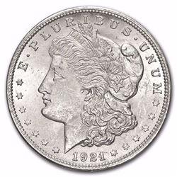 1921 Morgan Silver Dollar BU MS-63