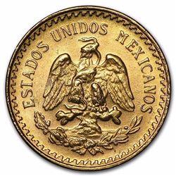 1945 Mexico Gold 2 1/2 Pesos AGW .0603