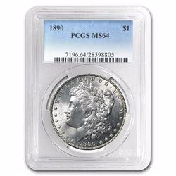 1890 Morgan Dollar BU MS-64 PCGS