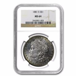 1881-S Morgan Dollar MS-64 NGC