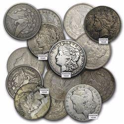 Twenty Mixed Morgan and Peace Silver Dollars Culls ($19.99 Ea)