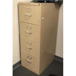 4 DRAWER VERTICAL METAL FILE CABINET