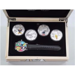 $20 Looney Tunes - Pure Silver 4-Coin Set with Wat