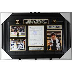 Sidney Crosby Signed Scoresheet Framed Penguins 10