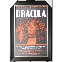 Dracula Movie Poster Studio Panel. Gallery Framed.