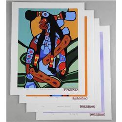 Norval Morrisseau (1931-2007) Serigraphs - 'A Sham