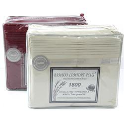 Lot (2) King Size - Bamboo Comfort Plus Sheet Sets