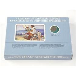 Rare - A Gallery of Canadian History 12 Coin Set -