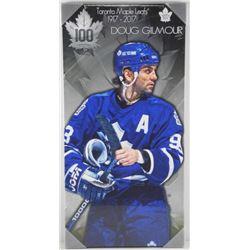 "Doug Gilmour 14x17"" Canvas - Maple Leafs 100th An"