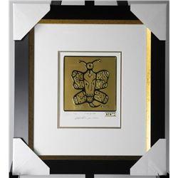 """Christian Morrisseau 24kt Gold Motif """"I Love You"""