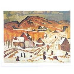 "AJ Casson (1898-1992) Lithograph ""Early Snow"". O"