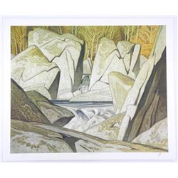 "AJ Casson (1898-1992) Lithograph ""Grey Day"". Ori"